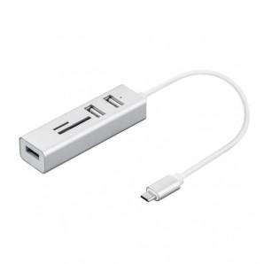 Nilox HUB 3PORTS USB 2.0 TO TYPE C + TF/SD READER NX090301141 NX090301141