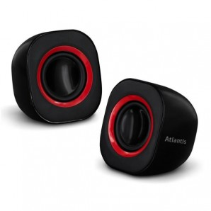 Atlantis by Nilox POWERED SPEAKERS USB 2.0 BLACK P003-C03-B P003-C03-B